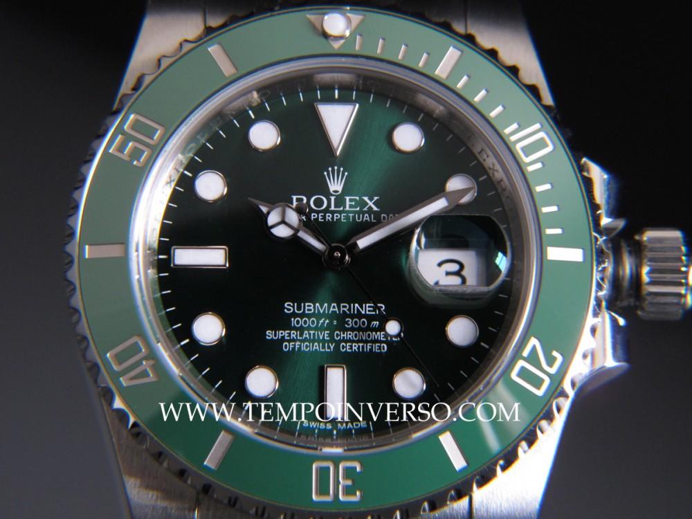 Tempo Inverso Rolex Date Green Ceramic Aka Hulk Full Set